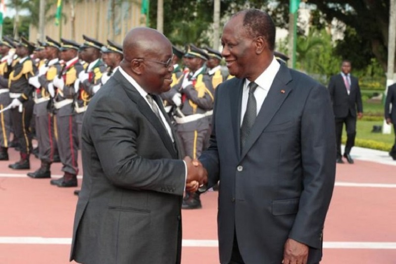 GHANA-CÔTE D'IVOIRE: Alassane Ouattara présent à l'investiture de Nana Akufo-Addo